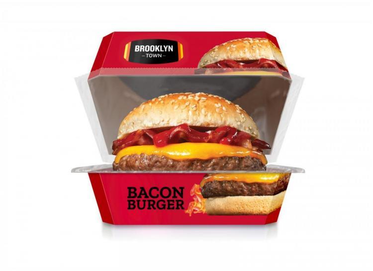 Hamburguesa vacuno bacon200g  brooklyn tow lista