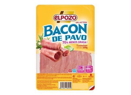 Bacon ahumado de pavo S/lactosa s/gluten 150g