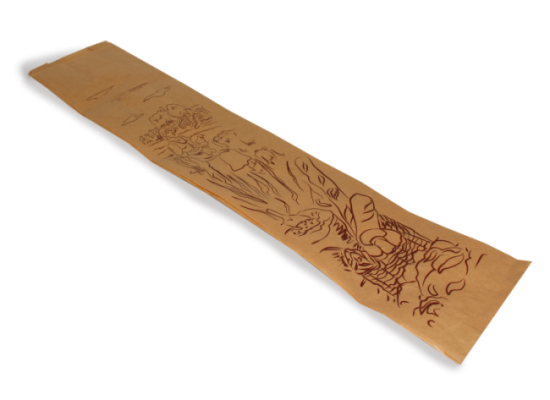 Bolsa baguette papel kraft 12+6x50 Rf: 12K ESPIGA
