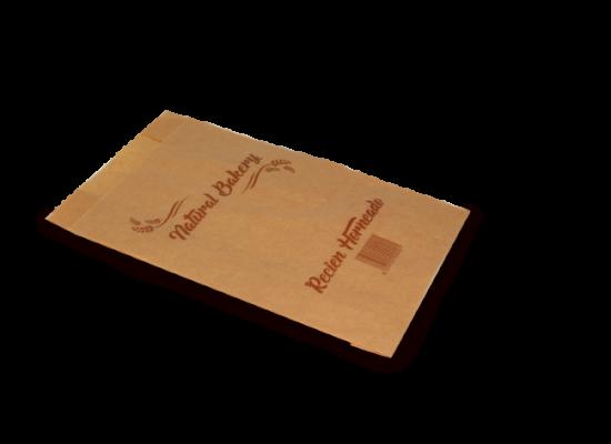 Bolsa bollería papel kraft 18x7x28 - Ref: 3K